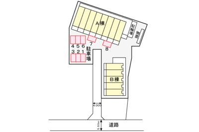 【区画図】あすなろハウスⅡ