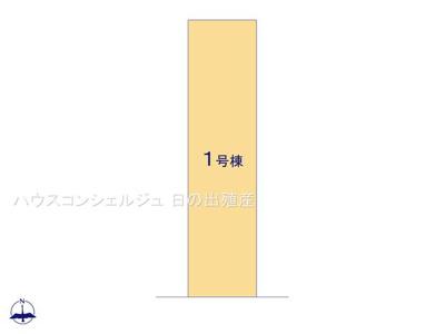 【区画図】名古屋市南区岩戸町1938【仲介手数料無料】新築一戸建て
