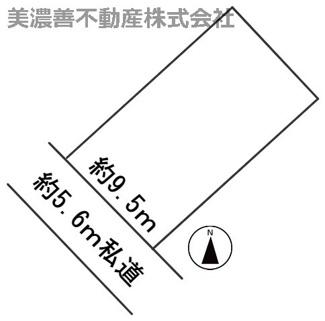 【区画図】55162 岐阜市椿洞土地