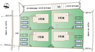 【区画図】読谷村大湾(全4棟)D号棟