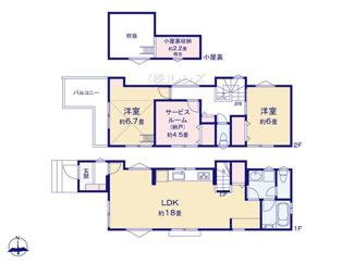 A号棟:広々LDKに洋室3部屋の使い勝手の良い間取り設計
