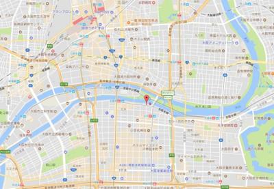 【地図】エスリード北浜