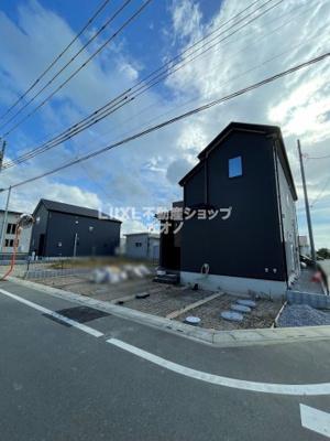 【外観】加須市北下新井 新築分譲住宅全3棟 LIGNAGE1号棟
