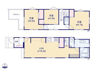 B号棟:広々LDKに洋室3部屋の使い勝手の良い間取り設計