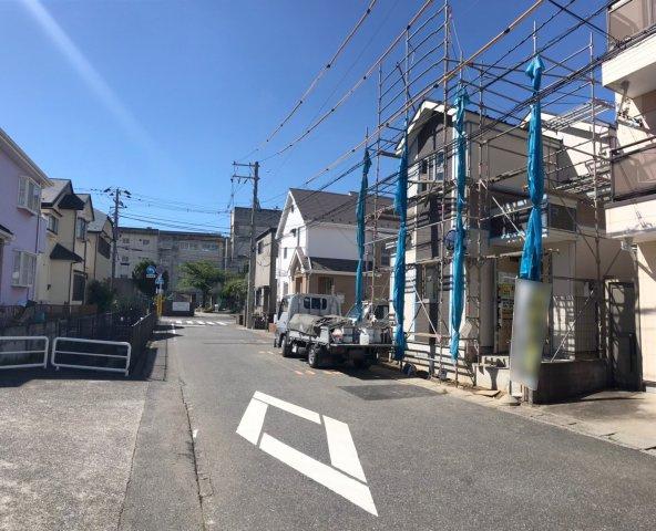 【前面道路含む現地写真】松戸17期 全2棟