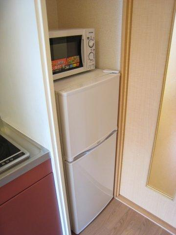 冷蔵庫・電子レンジもついています