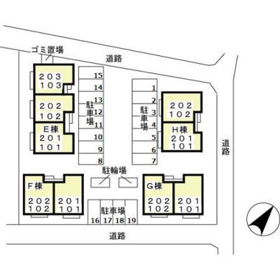 【区画図】メゾンボナール EF