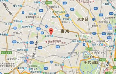 シルバーマンション早稲田の所在地