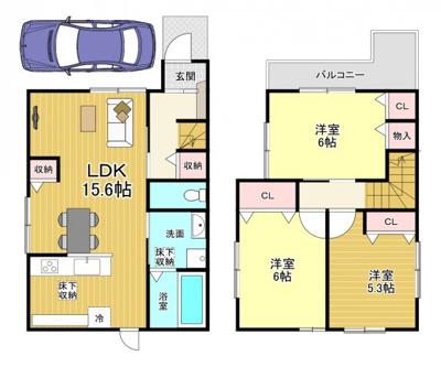 建物:1250万円 延床面積:78.25㎡