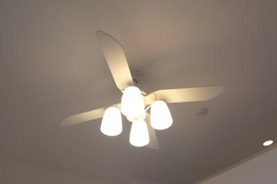 シーリングファン付の照明
