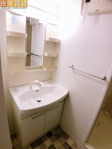 シャワーヘッド付き独立洗面台