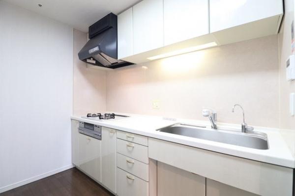 【キッチン】広々としたシンクは、洗い物以外に調理台としても利用できます。食洗器 を置いて頂く事もできます。