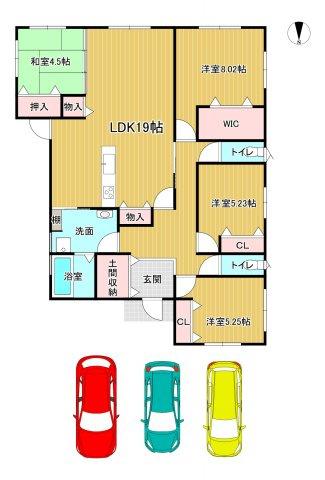 リビング広々19帖+和室の4.5帖を開放していただくと、23.5帖の広々空間に(^^)v