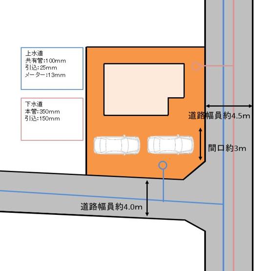 駐車場は拡張工事を行い、縦列2台分へとリフォームをします。間口も拡張するので余裕を持って駐車できますね。