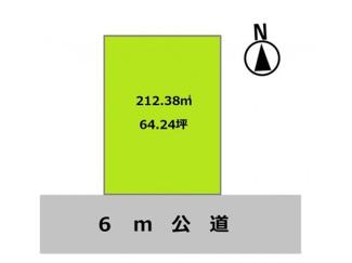 グランファミーロ酒々井中央台 64坪超の広々とした敷地です♪