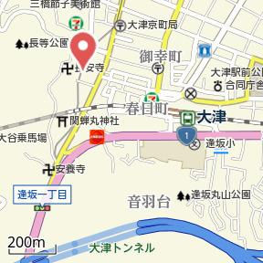 【地図】逢坂② 貸家