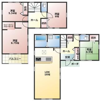 碧南第50春日町新築分譲住宅3号棟間取りです