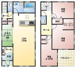 碧南第50春日町新築分譲住宅4号棟間取りです。