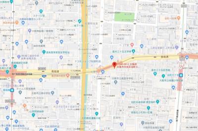 【地図】アスヴェル心斎橋東ステーションフロント
