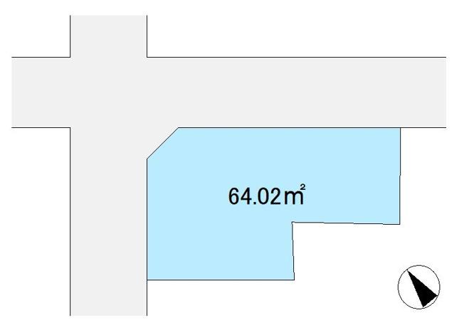 区画図  敷地64.02㎡