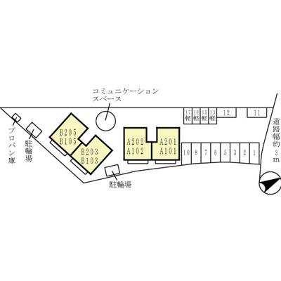 【区画図】ウィルモアシャトー B棟
