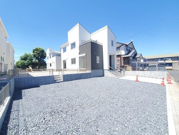 【前面道路含む現地写真】水戸市東前新築第4/4号棟