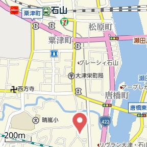 【地図】田辺町 貸家