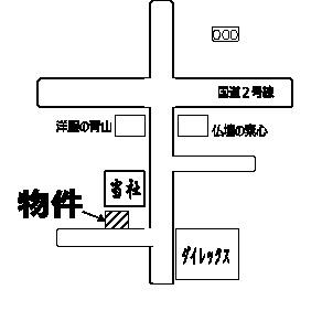 【地図】野口町戸建て住宅