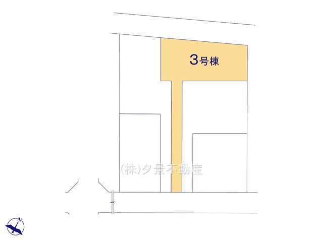 【区画図】見沼区島町142(全5戸3号棟)新築一戸建てリーブルガーデン
