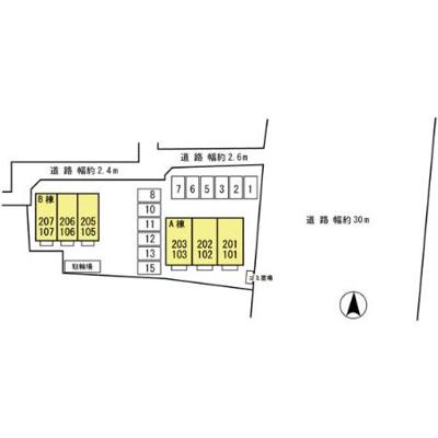 【区画図】グリーンクレスト B棟