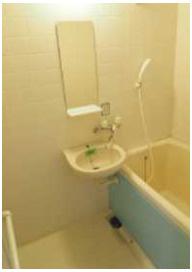 【洗面所】ドミール大興Ⅰ バストイレ別 収納豊富 2口コンロシステムキッチン