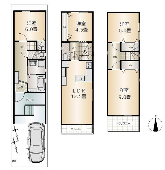 D号地 土地建物セット価格3680万円