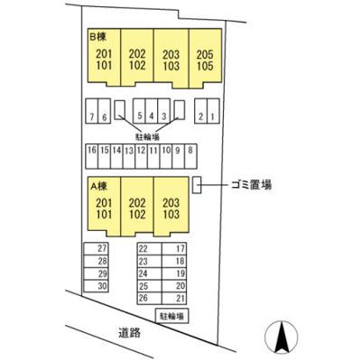 【区画図】パーク倉敷B