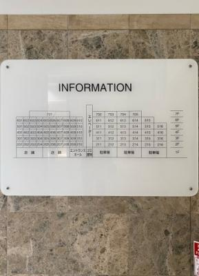 マンションの配置図
