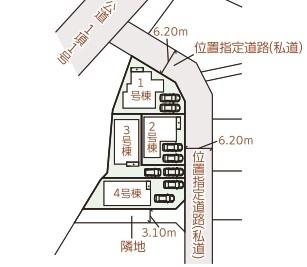 【区画図】うるま市昆布(全4棟)3号棟