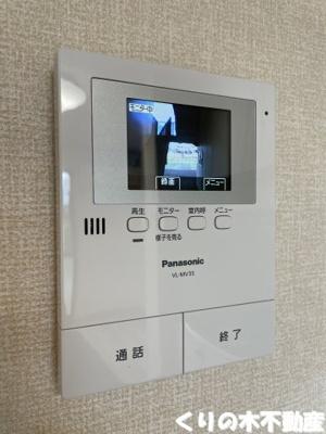 来客時も安心なモニター付きインターホン。