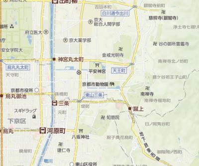 【地図】コーポサンプラザ