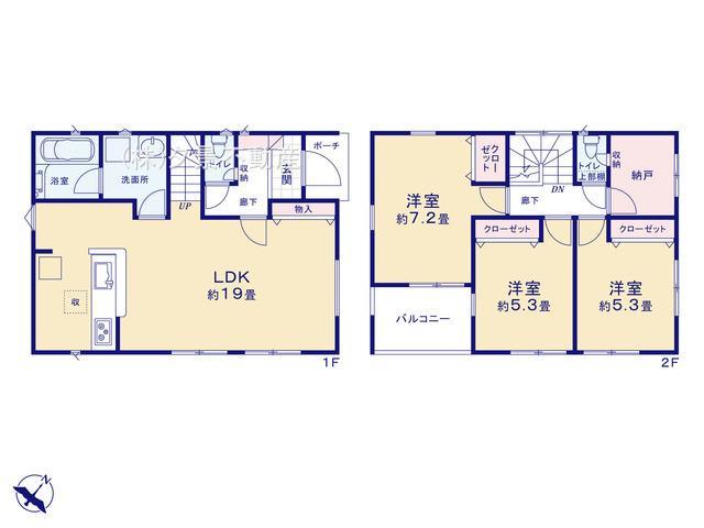 川口市弥平2丁目18-14(2号棟)新築一戸建てクレイドルガーデン