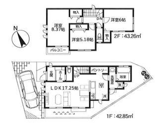 1号棟:家族交流を促すリビングイン階段スタイルの3LDK