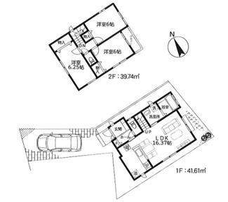 2号棟:家族交流を促すリビングイン階段スタイルの3LDK