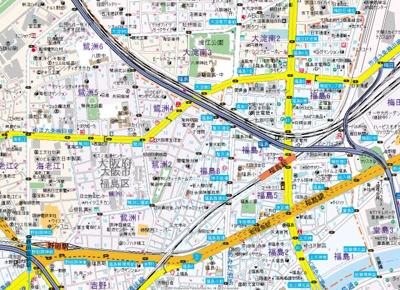 【地図】ハピネス福島