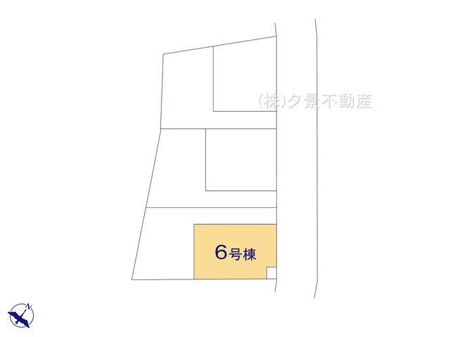 【区画図】川口市大字安行吉蔵333-5(6号棟)新築一戸建てクレイドルガーデン