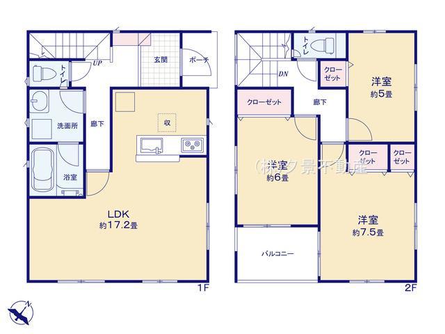 川口市大字安行吉蔵333-5(5号棟)新築一戸建てクレイドルガーデン