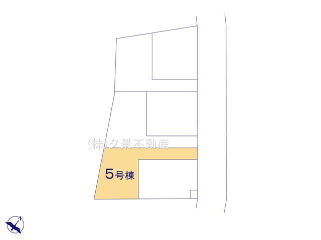 【区画図】川口市大字安行吉蔵333-5(5号棟)新築一戸建てクレイドルガーデン