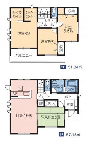 【区画図】高崎市箕郷町下芝 3号棟/LiveleGarden.S M