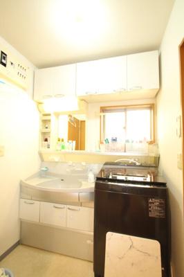 広々とした洗面台・洗濯機置き場スペースです。