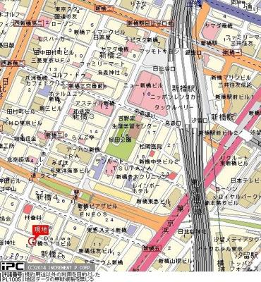【地図】パレステュディオ汐留WEST