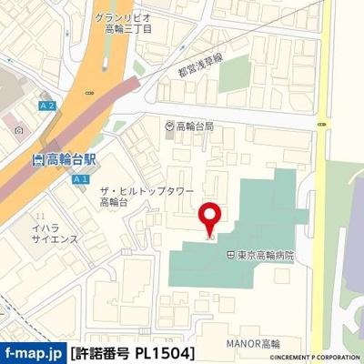 【地図】オープンレジデンス高輪台