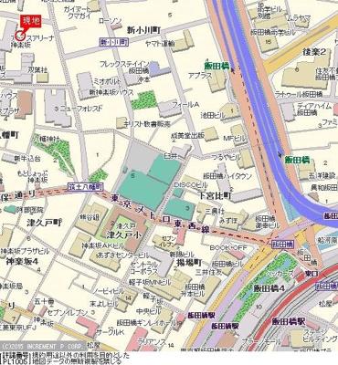 【地図】パレステュディオ神楽坂