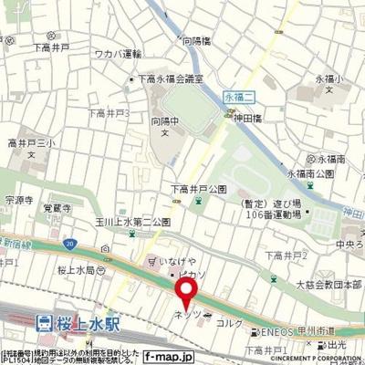 【地図】ダイホープラザ桜上水